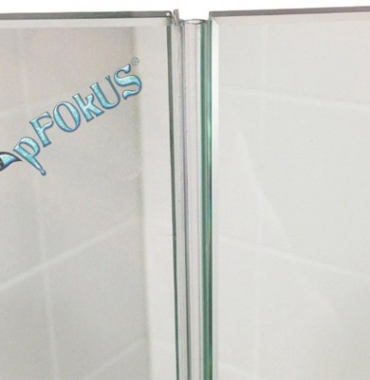 DS108 Frameless Shower Door Seals | Shower Glass Seals | pFOkUS
