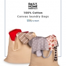 Shop Hanging cotton canvas laundry bag Online USA | Samy's Mart Amazon